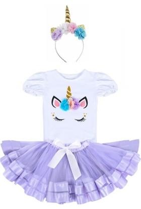 Bba New Trend Unicorn Taç Unicorn Tütü Etek 3 Lü Set