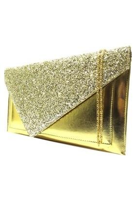 Brs Bags Kadın Portföy Çanta Altın