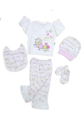 Yumurcak 5 Li Kız Bebek Hastane Çıkışı Zıbın Seti 506