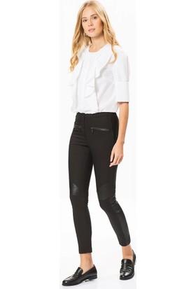 Roman Cepleri Fermuar Detaylı Siyah Kadın Pantolon K1812127001