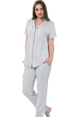İnsta Pijama Liny Exculusive Collection İpek Saten Pijama Takımı