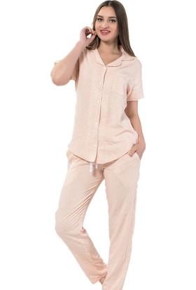 İnsta Pijama Light Floral Exculusive Collection İpek Saten Pijama Takımı