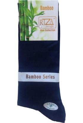 Rıza Savcıoğlu Bambu Dikişsiz Erkek 12'li Çorap Lacivert