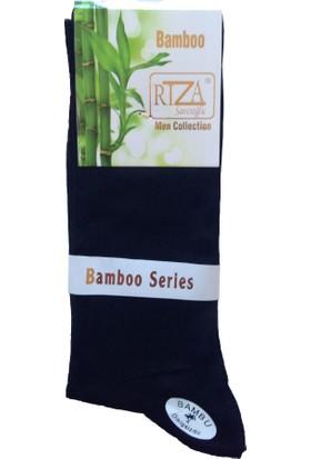 Rıza Savcıoğlu Bambu Dikişsiz Erkek 12'li Çorap Siyah