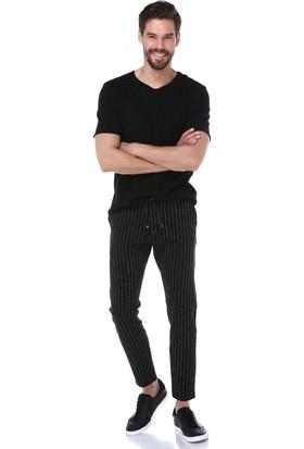 Manche Siyah-Beyaz Jogger Pantolon | ME19S610006