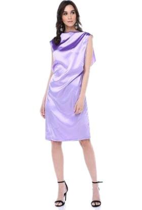 Tantrona Açık Mor Sırtı Dekolte Elbise