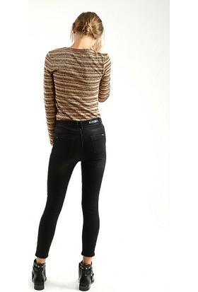 Collezione UCB021528 Hera Kadın Kot Pantolon Siyah
