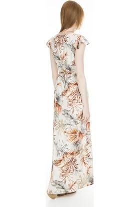 Lela Desenli Yırtmaçlı Elbise Kadın Elbise 23430996