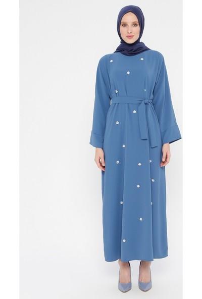 İncili Elbise - İndigo - Tuncay