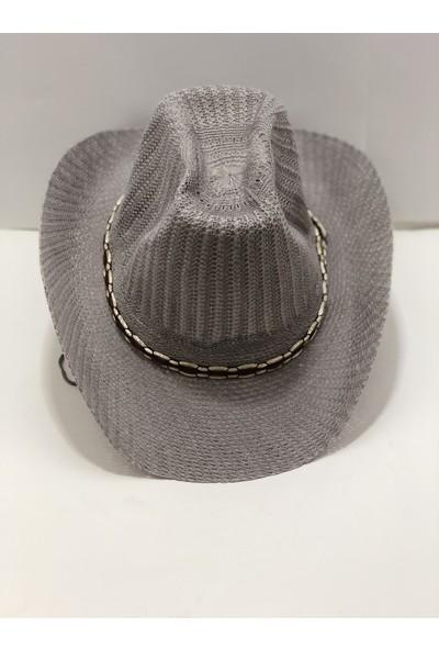 Art Gold Günlük Kullanımda İdeal Gri Tatil Şapkası
