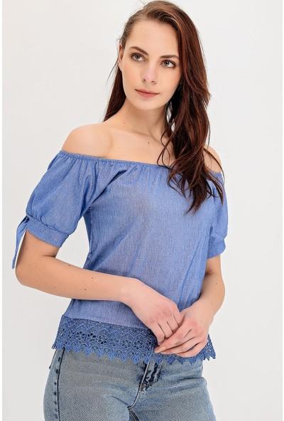 Hds Hadise Kollar Bağcıklı Bluz 4204T
