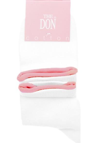 The Don Kadın Çorap Beyaz Pembe
