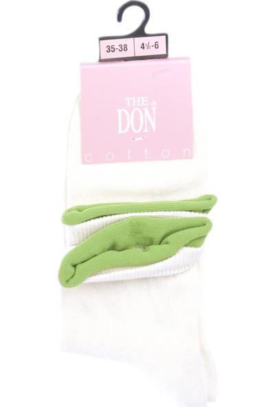 The Don Kadın Çorap Beyaz Yeşil