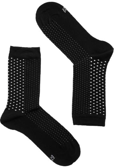 The Don Puantiyeli Bambu Kadın Çorap Siyah