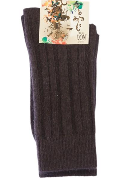 The Don Kadın Yünlü Çorap Kahverengi