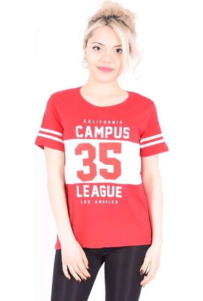 Sam Toni Campus League Kırmızı T-Shirt