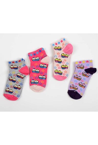 Pemilo Çocuk Karma 10 Adet Renkli Desenli Çorap