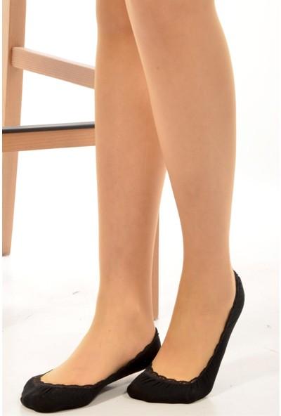 Pemilo Kadın 10 Adet Babet Çorap Siyah