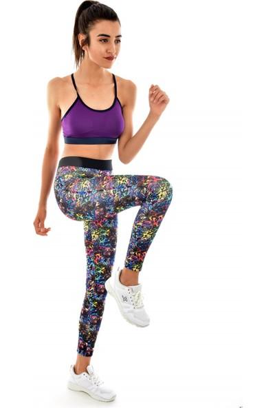 Digital Baskılı Fitness Tayt Renkli