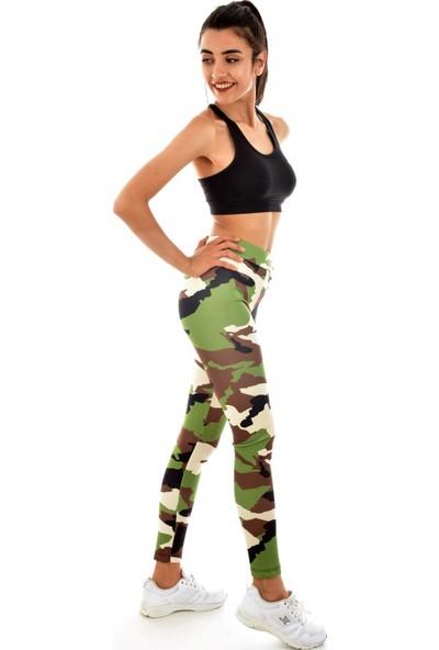 Wotto Digital Baskılı Fitness Tayt Renkli