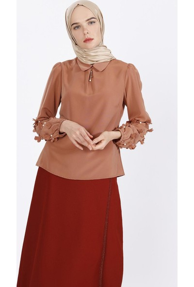 Sitare Kolları Çiçekli Gömlek 19Y2478