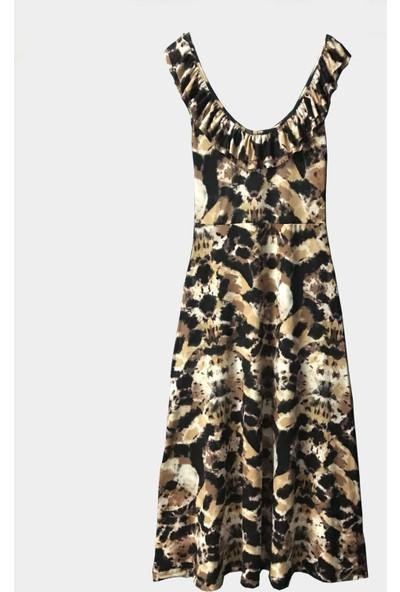 Coten Concept Kadın Yakası Fırfırlı Elbise