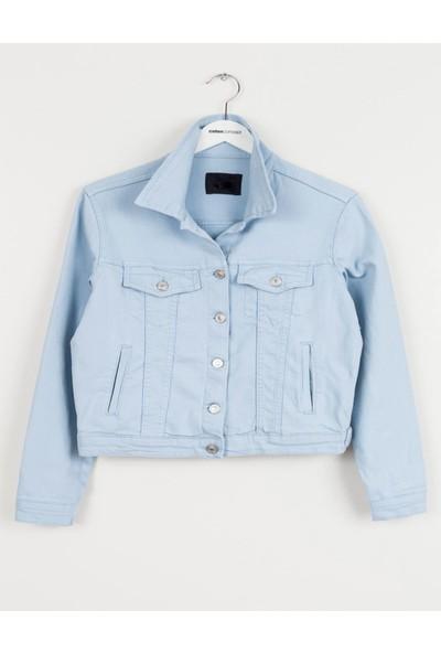 Coten Concept Kadın Düğmeli Kot Ceket