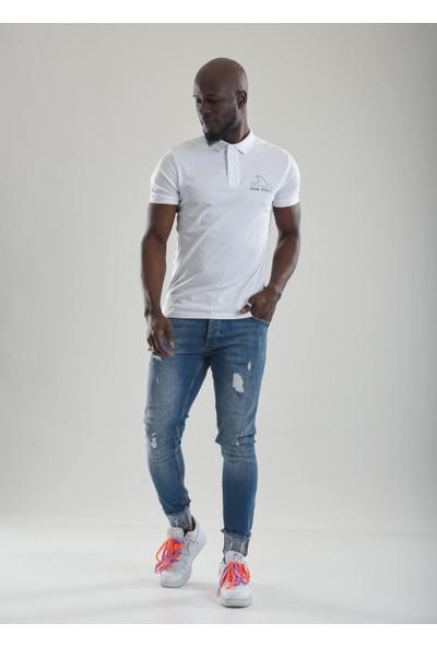 Jean Maker Slim Fit Paçası Katlı Erkek Kot Pantolon
