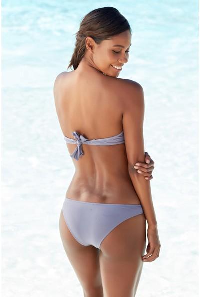 Ebru Şallı Straplez Dolgulu Bikini 38 Beden Bikini