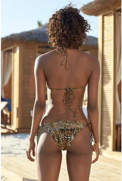 Ebru Şallı Üçgen 36 Beden Bikini