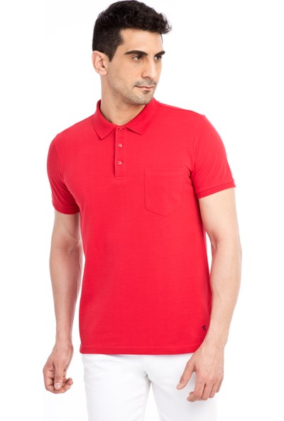 Kiğılı Polo Yaka Regular Fit T-Shirt