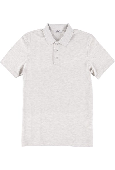Kiğılı Polo Yaka Slim Fit T-Shirt