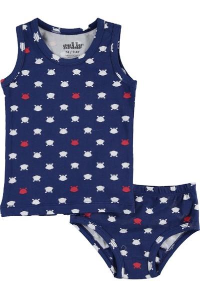 Kujju Erkek Bebek İç Çamaşır Takımı 9 - 18 Ay Lacivert