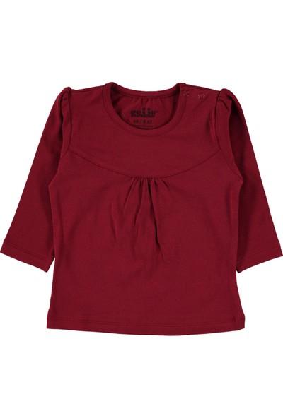 Kujju Kız Bebek Penye Sweatshirt 6 - 18 Ay Bordo
