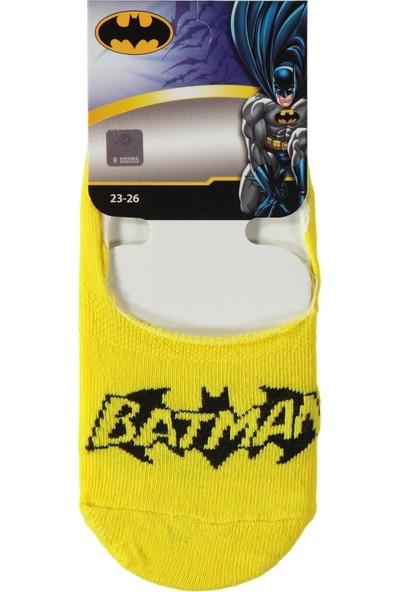 Batman Erkek Çocuk Babet Çorap 5 - 9 Yaş Sarı