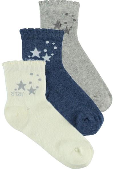 Civil Erkek Çocuk 3'lü Çorap Set 5 - 13 Yaş Gri