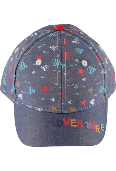 Kitti Erkek Çocuk Kep Şapka 4 - 8 Yaş İndigo