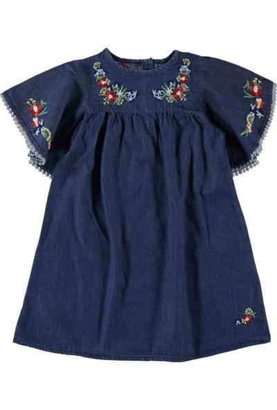 Civil Girls Kız Çocuk Kot Elbise 6 - 9 Yaş Mavi