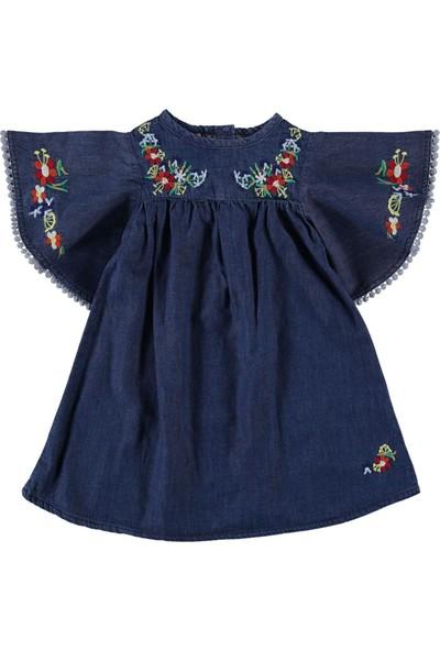 Civil Girls Kız Çocuk Kot Elbise 2 - 5 Yaş Mavi