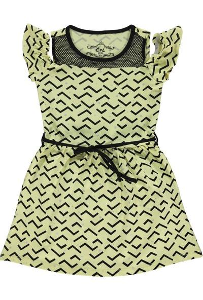 Civil Girls Kız Çocuk Elbise 2 - 5 Yaş Sarı