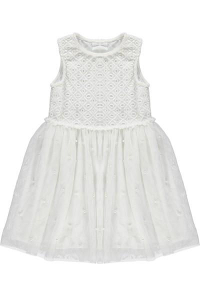 Civil Girls Kız Çocuk Dantelli Elbise 6 - 9 Pudra