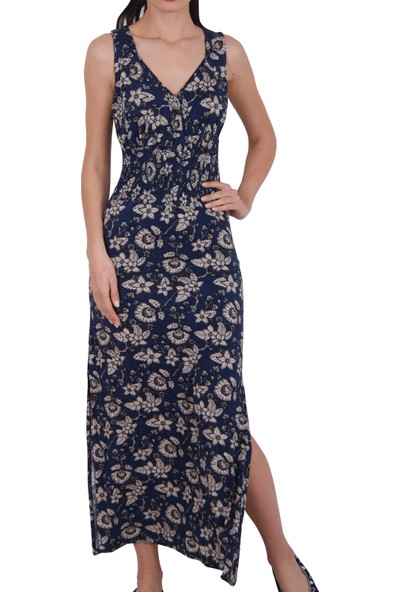 Nicoletta Kadın Tunik Ev Elbisesi Geniş Askılı Viskon