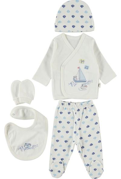 Civil Baby Erkek Bebek 5'li Zıbın Takımı Mavi