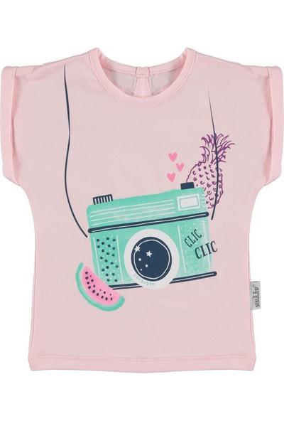 Kujju Kız Bebek T-Shirt Pudra