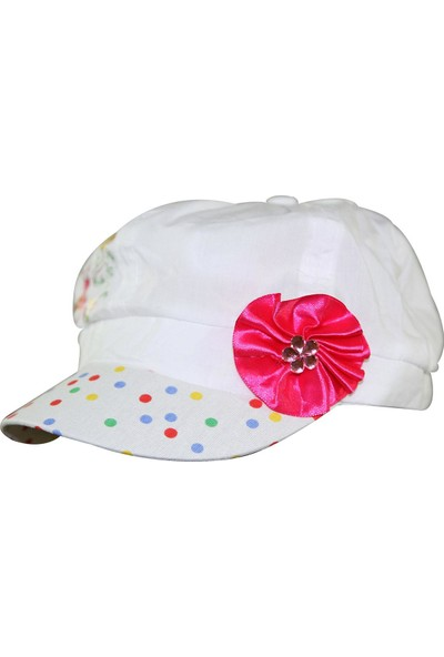 Tidi Kız Çocuk Kep Şapka Beyaz