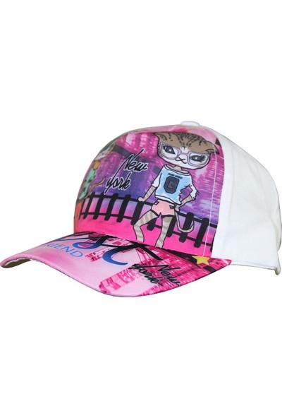 Tidi Kız Çocuk Kep Şapka Pembe