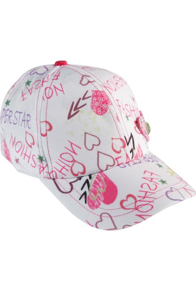 Tidi Kız Çocuk Kep Şapka Fuşya