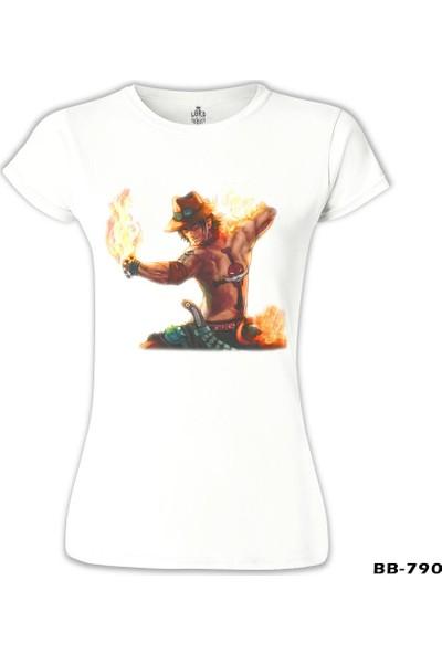 Lord T-Shirt One Piece - Flame Beyaz Kadın T-Shirt