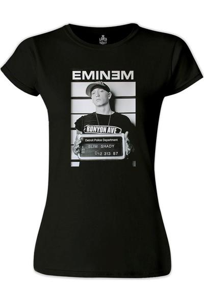Lord T-Shirt Eminem - Detroit Siyah Kadın T-Shirt