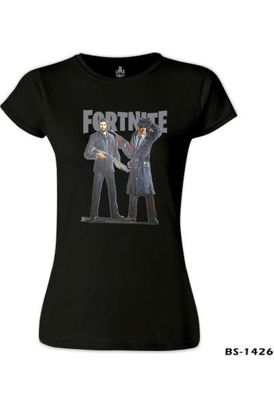 Lord T-Shirt Fortnite - Gangs Siyah Kadın T-Shirt